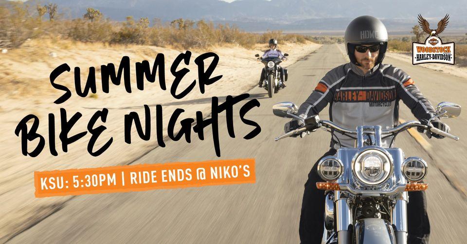 Summer Bike Night with Woodstock Harley and Niko's