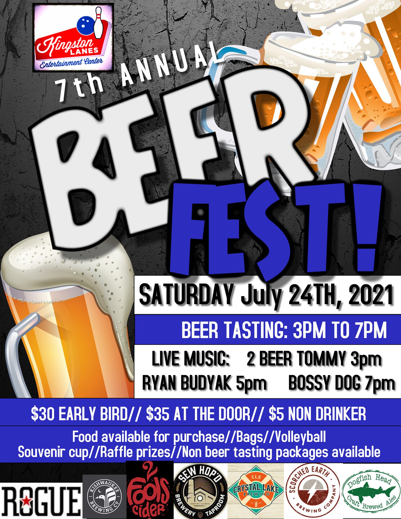 7th Annual Beer Fest at Kingston Lanes