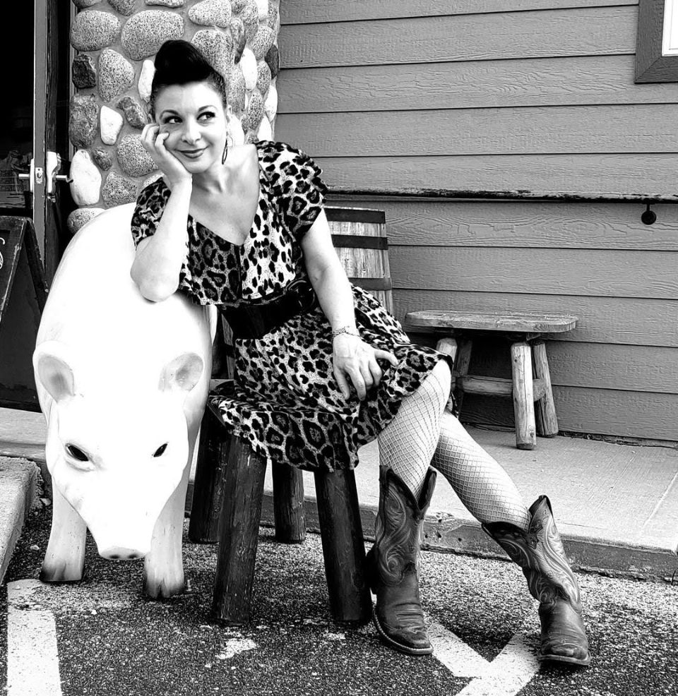 Karen Shook at Porkies