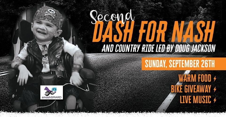 DASH 4 NASH CHARITY RIDE with LIVE music from LARA BELL BAND