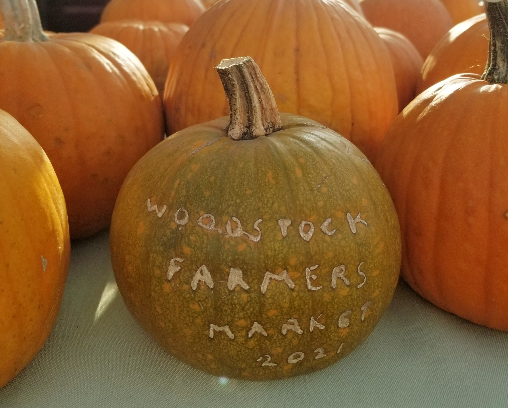 Trick-or-treat at the indoor Woodstock Farmers Market