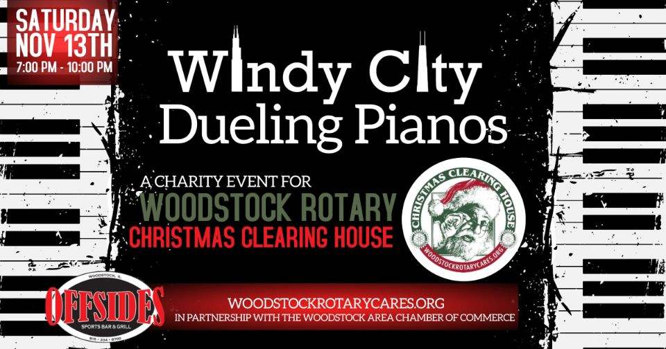 Dueling Pianos – Charity Event for Christmas Clearing House at Offsides