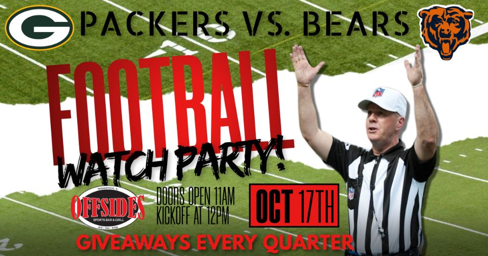 Bears & Packers Football Watch Party at Offsides