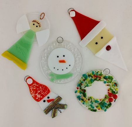 """Material Things """"Fused Glass Holiday Ornament Class"""""""