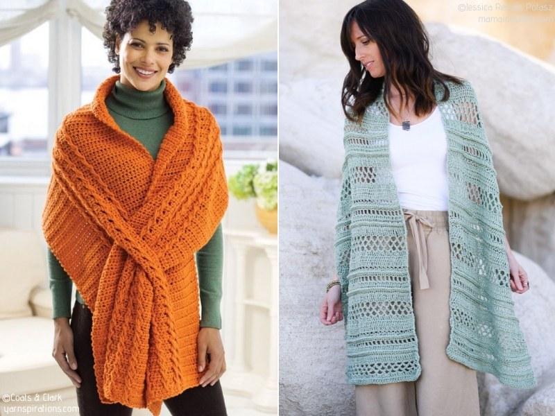 Stylish Wraps Free Crochet Patterns
