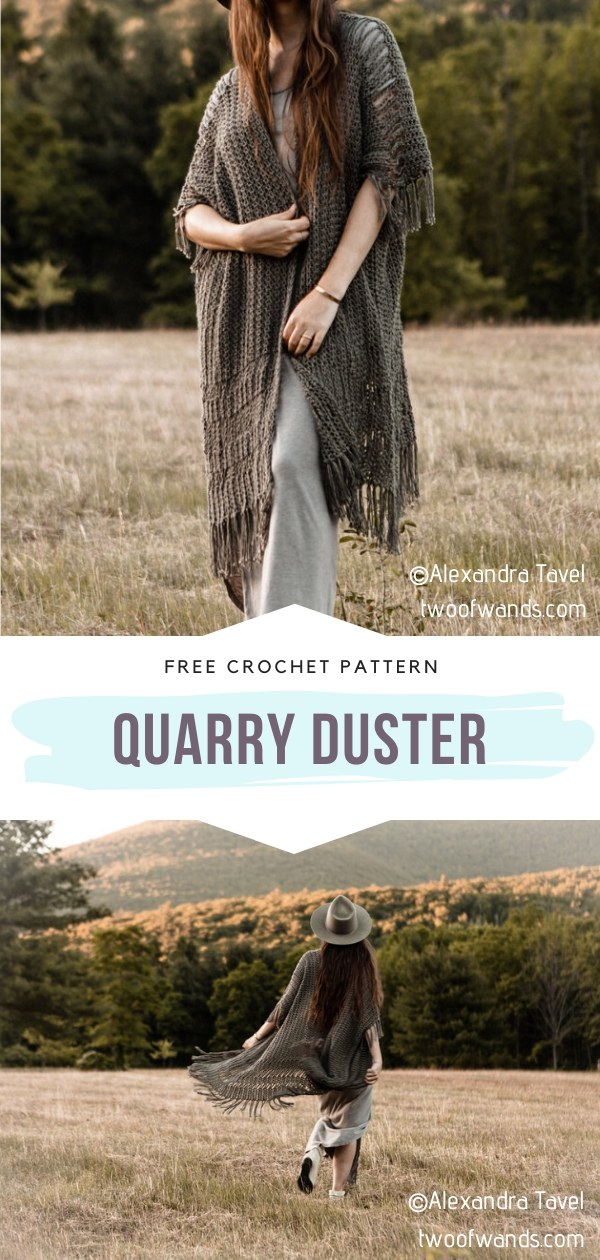 Long Crochet Cardigan