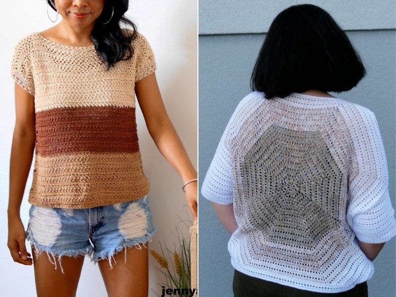 Delicate Crochet Blouses Free Patterns