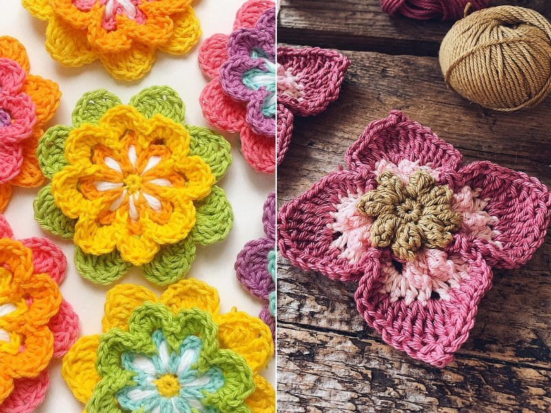 Gorgeous Flowers Free Crochet Patterns