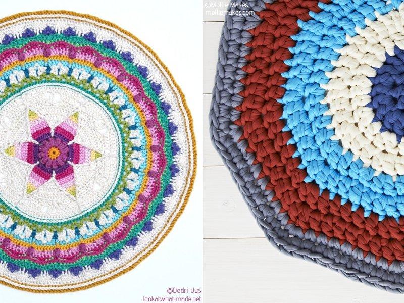 Awesome Crochet Mandala Rugs