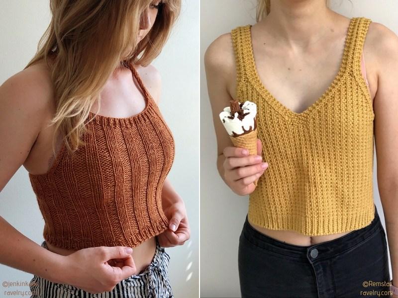 Cute Knit Crop Tops