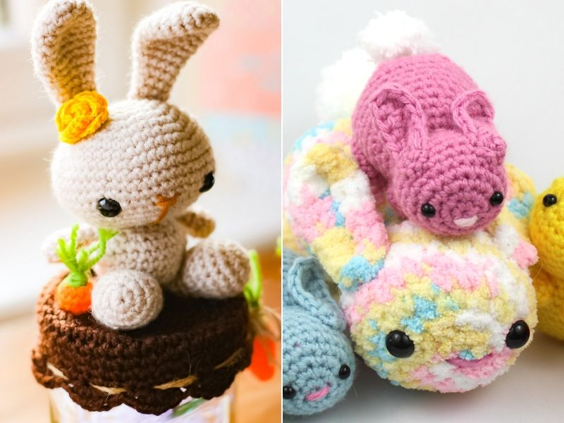 Cute Crochet Bunnies Free Patterns