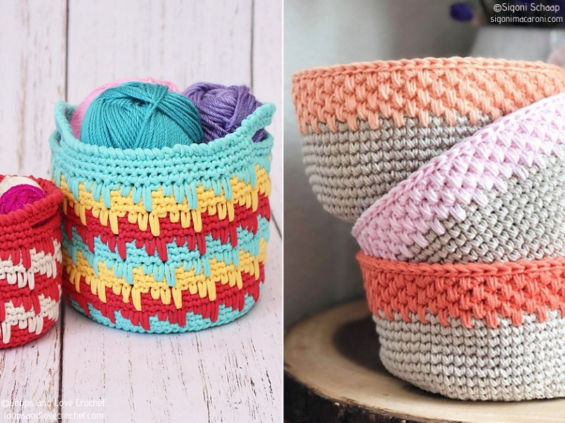 Easy Crochet Storage Baskets