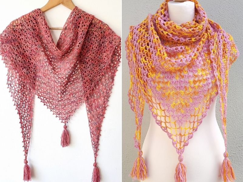 Light Summer Shawls Free Crochet Patterns