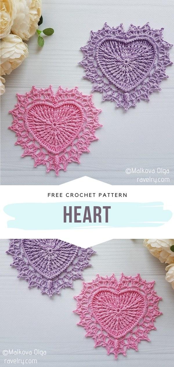 Hear-Shaped Crochet Doily