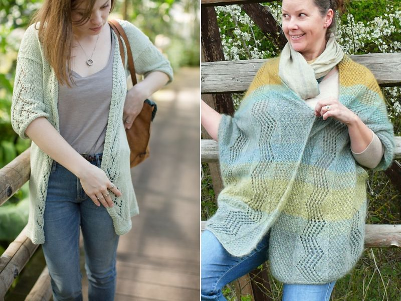 Delicate Knitted Cardigans Free Patterns