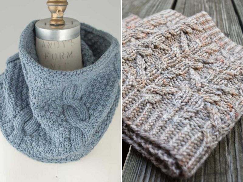 Free Patterns Cable Knitted Cowls