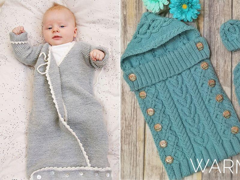 Free Knitting Patterns Cozy Baby Sleepsacks