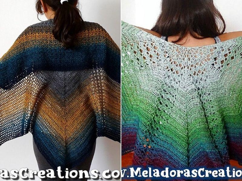 Free Crochet Patterns Striking Butterfly Shawls