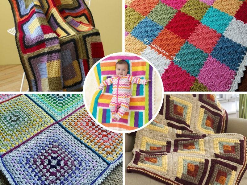 Free Crochet Patterns: Terrific Patchwork Blankets
