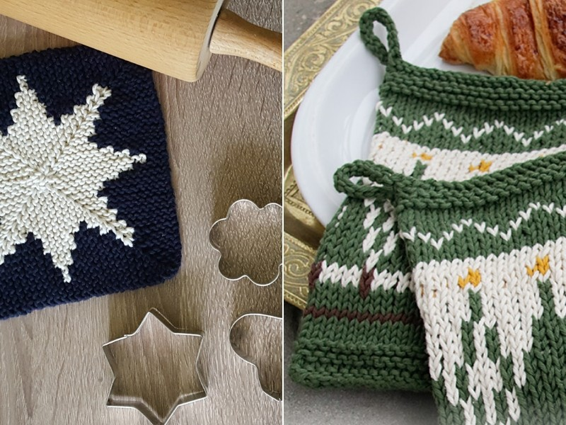 Dazzling December Potholders Free Knitting Patterns
