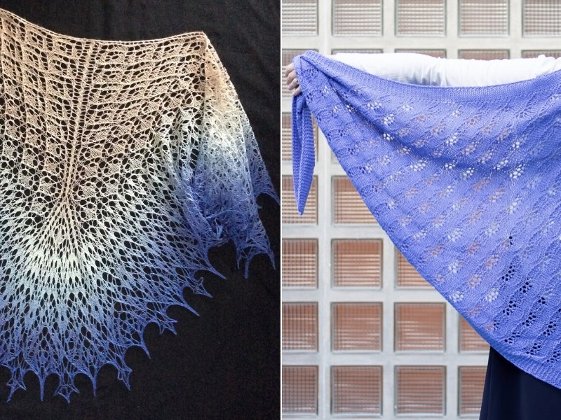 Blue Air Shawls Free Knitting Patterns
