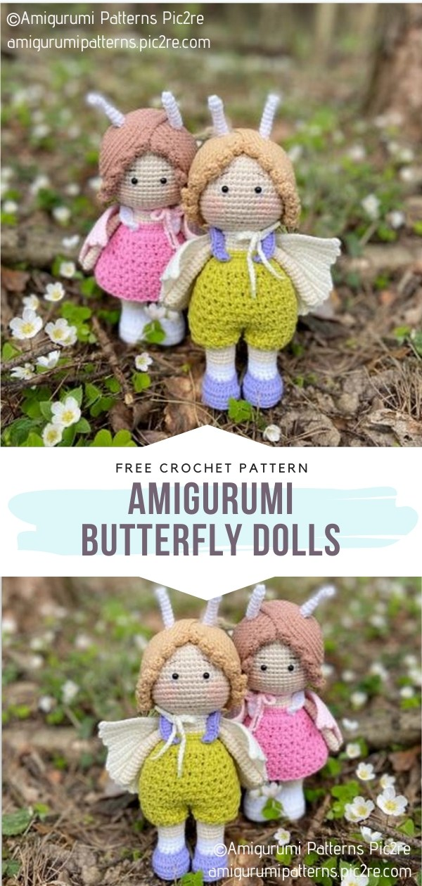 Amigurumi Butterfly Dolls