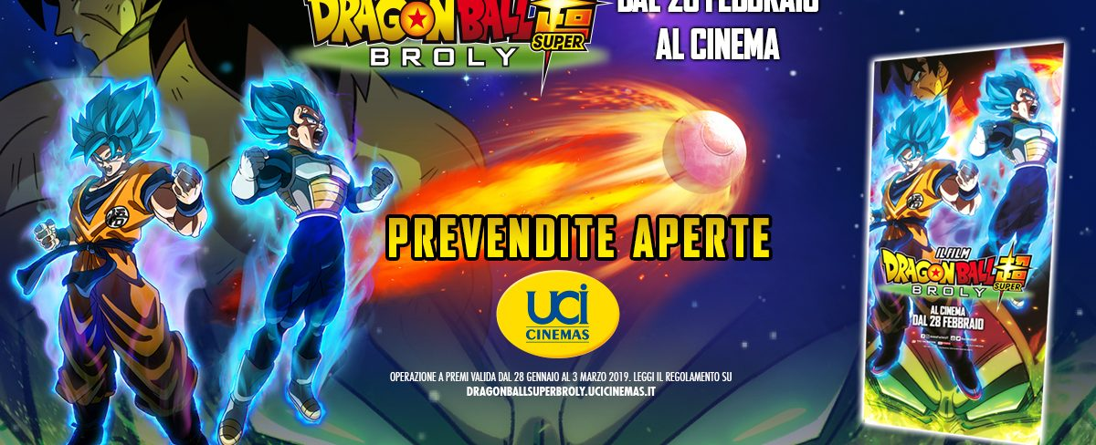 Locandina Limited Edition di Dragon Ball Super: Broly in esclusiva da UCI Cinemas