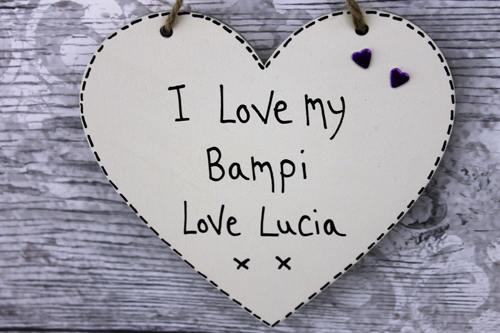 I Love My Bampi Personalised Plaque Birthday Gifts For Dad