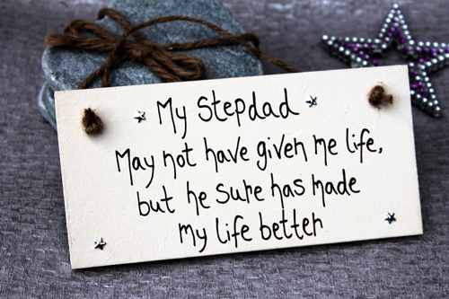 My Stepdad Made My Life Better Handmade Stepdad Gift Plaque