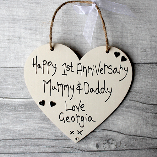 Handmade 1st Anniversary Mummy And Daddy Gift Heart Madeat94com