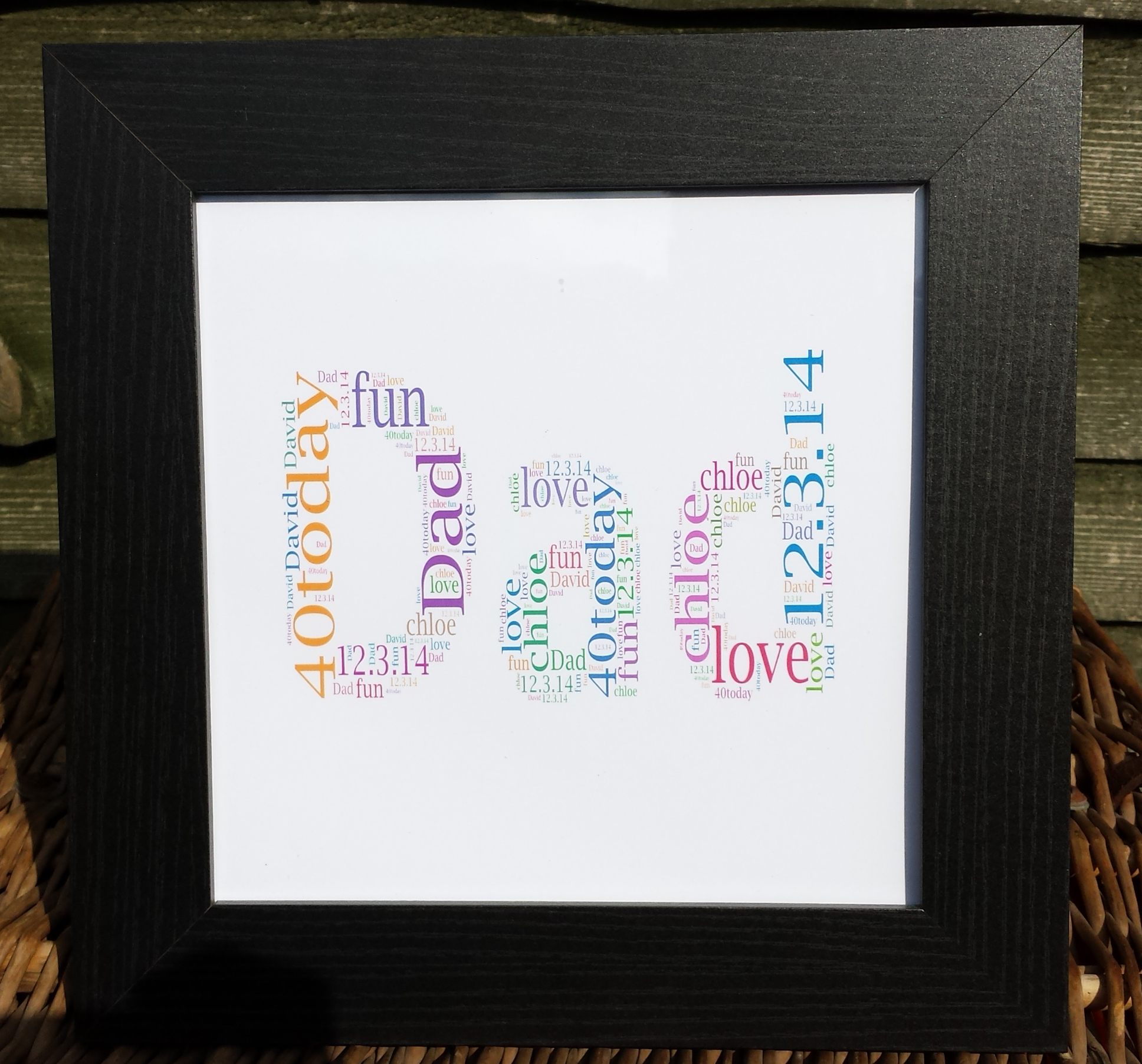 DAD 2\' Word Art Frame in black | MadeAt94