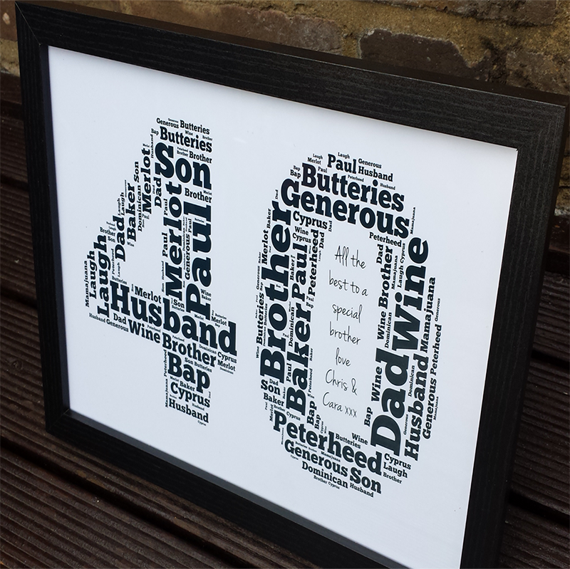Personalised 40th Birthday Gifts Frame