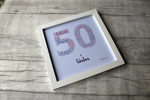 50th Birthday Ideas Gift Frame Personalised Present