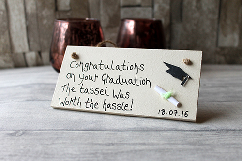 personalised graduation presents for him or her plaque