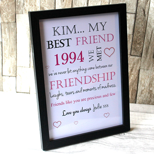 u0027My Best Friendu0027 Personalised Frame & Personalised College Graduation Gifts For Friends Plaque