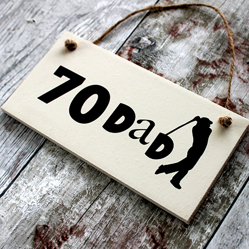Golf Personalised Plaque 70th Birthday Ideas For Dad