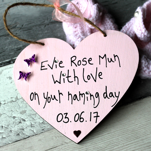 Personalised Cute Ideas For Naming Day Gift Heart