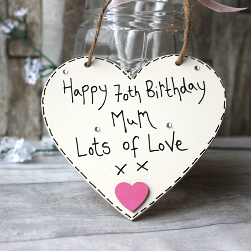 70th Birthday Gift Ideas Mum Heart
