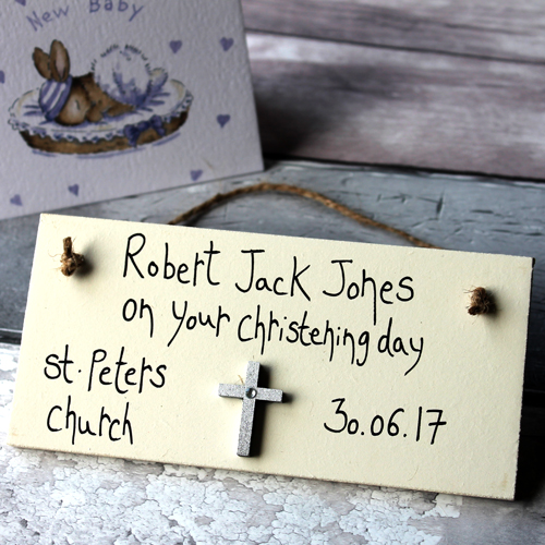 Personalised Unusual Christening Gifts Boys and Girls Sign Presents