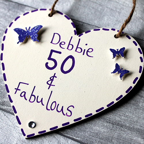 Unique 50th Birthday Gifts For Her Personalised Heart