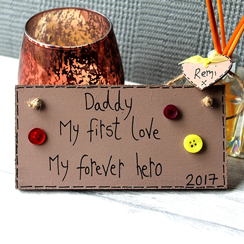 Daddy My First Love Personalised Plaque Dad Birthday Present Ideas