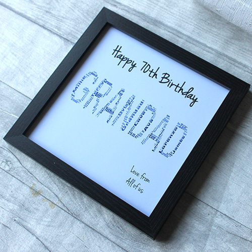 70th Birthday Gift Grandad Frame 1841 2834 Quick View Select Options