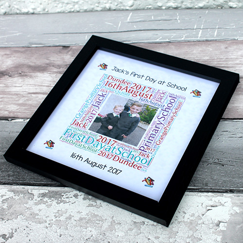 Personalised First Day Of School Pictures Print Frame