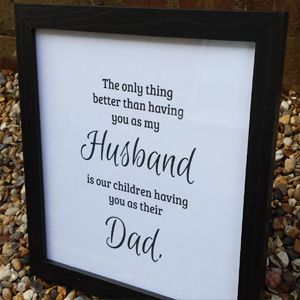 the only thing better than frame best dad presents