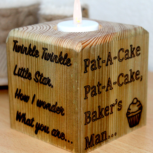 Personalized wooden block gift