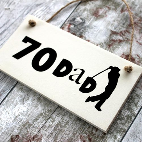 70 Dad Online Personalised Gift Shop plaque