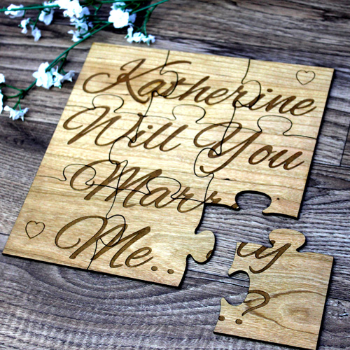 Will you marry me jigsaw puzzle wooden gift.
