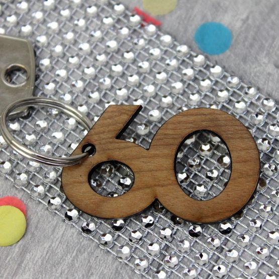 60th birthday keyring