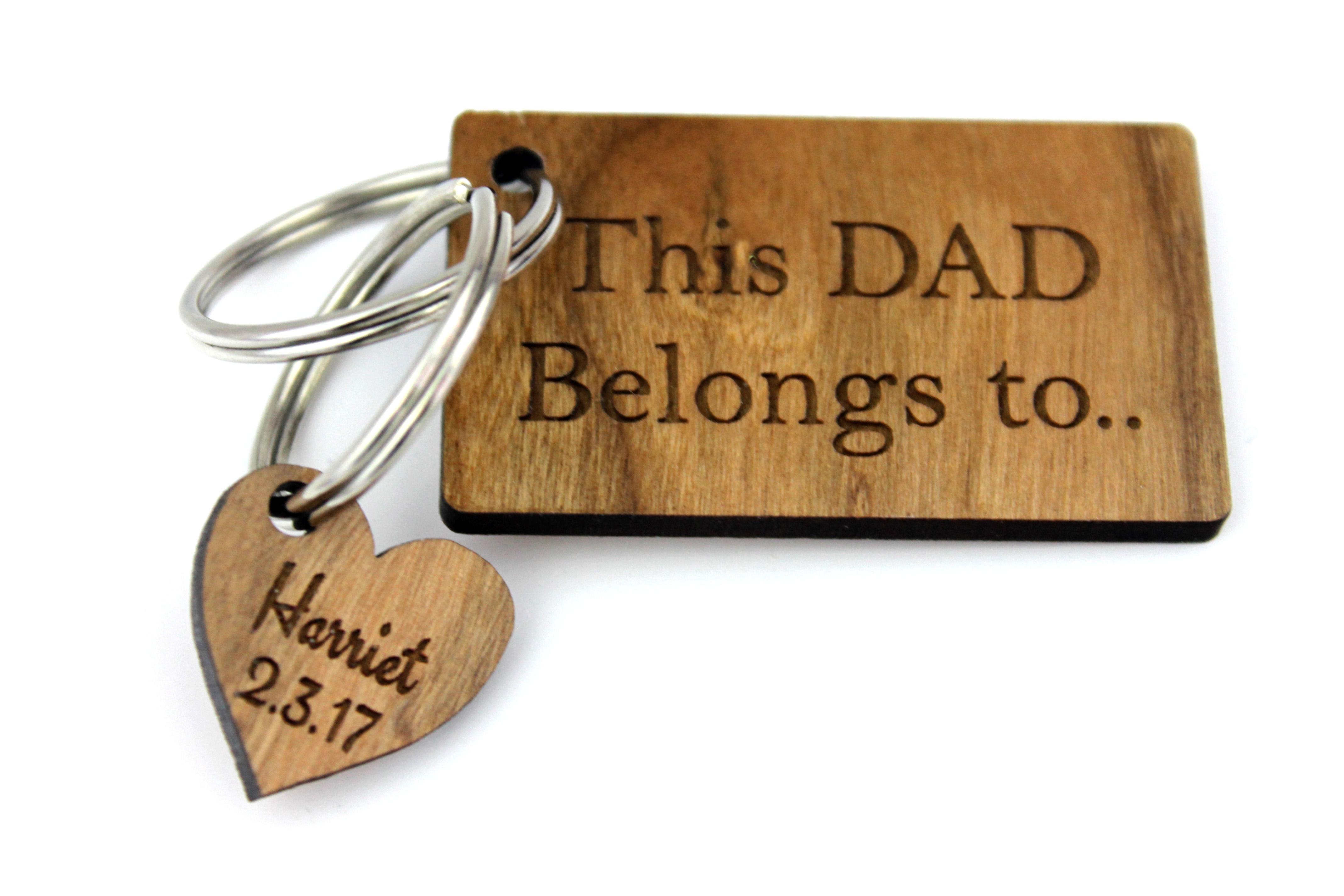 This Dad Belongs To Keyring