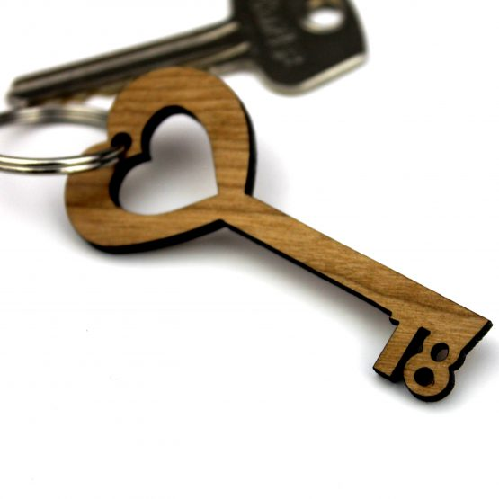 18th Keyring wooden keychain